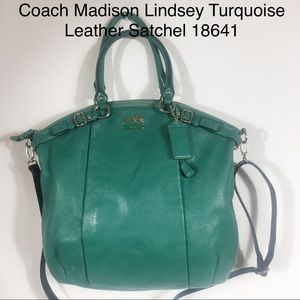 Coach Madison Lindsey Leather Satchel Hobo 18641